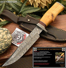 SFK CUTLERY HAND MADE DAMASCUS STEEL FULL TANG KNIFE - HARD WOOD- FO-2612