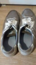 CAMP DAVID Blue Dept Leather Casual Shoes Men Size 10.5 Grey Made in Portugal