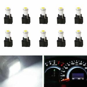 10Pcs Car 73 74 T5 Instrument Cluster Dashboard Light LED Bulb Twist Socket Set