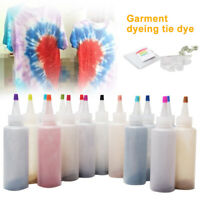 5/18pcs One Step Colorful Tie Dye Kit Fabric Textile Permanent Paint Colors