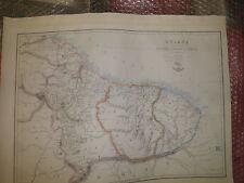 Guiana British DutchFrench1863DispatchAtlasJW Lowry+Engraved EWellerFramed20more