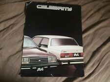 1984 Chevy Chevrolet Celebrity Mexican Market Color Brochure Catalog Prospekt