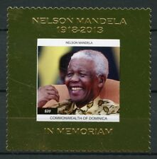 Dominica 2013 MNH Nelson Mandela in Memoriam 1v Gold Stamp Politicians Stamps