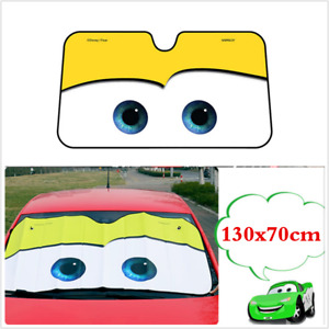 Aluminium Cartoon Car Windshield Sun Shade Big Eyes Front Visor Window Yellow