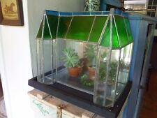 Terrarium, Wardien Case.  Stained glass. Big. Ooak.