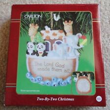 Carlton Cards Heirloom Ornament Two-By Two Noah's Ark