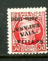 Spain-Seville issue Stamps # 14L7 FVF OG NH Inverted Ovpt Seville Issue