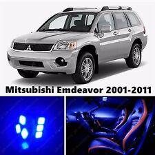 10pcs LED Blue Light Interior Package Kit for Mitsubishi Emdeavor 2001-2011