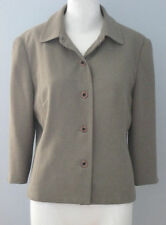 BRAEMAR Size 8 Gray Fully Lined 3/4 Sleeve Blazer