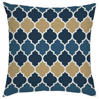 Moroccan Blue Lantern Designer Print Outdoor Cushion Cover Waterproof Garden
