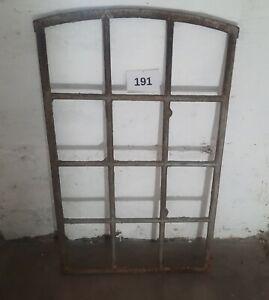 Altes Originales Dänisches Rundbogen Gussfenster H.: 117,5 cm B.: 72 cm