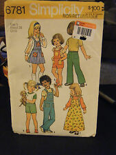 Simplicity 6781 Skirt & Pants in 2 Lengths & Detachable Bib Pattern - Size 5