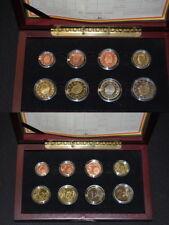 Offizieller Kursmünzensatz Belgien 1 Cent - 2€ 2001 PP,original PP in edler Holz