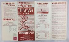 "1954 Pre Castro Cuba Tourism Brochure Key West to Havana ""Q"" Airways Cruises +"