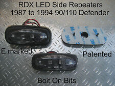 RDX LED DARK Side Repeaters 90/110/Defender 1987 to 1994 2.5 TurboDiesel 200 Tdi
