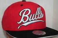 Chicago Bulls Mitchell & Ness NBA Billboard Script Snapback,Hat,Cap  $ 32.00 NEW