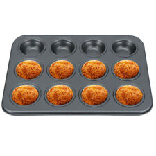 New listing Non-Stick 12 Cup Cupcake Baking Pan Tray Mould Tin Cakes Pudding Muffin Bun Mold