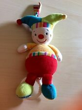 Baby Fehn Spieluhr Harlekin Clown w.NEU 22cm unisex