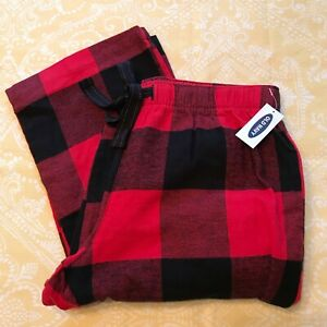 NWT Old Navy size S pajama pants red black buffalo plaid 100% Cotton NEW