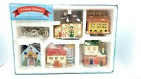 NOMA Country Christmas 5 Pc. Lighted Christmas Village w/Box Vintage Used