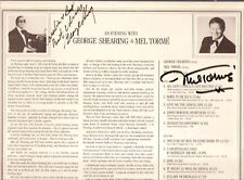 GEORGE SHEARING-MEL TORME-IN PERSON AUTOGRAPHS-LP