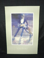 Figure Skating Calgary Canada 1988 Winter Olympics Poster Lithograph