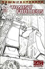 Transformers BotCon 2014 More Than Meets the Eye #30 Sketch Cover Comic MTMTE