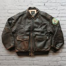 Vintage Avirex Type A-2 US Army Air Forces Leather Flight Jacket 80s Size L