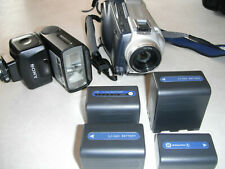 Sony Dcr-Trv27 Camcorder Case Batteries Flash Chargers Everything Works!