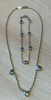 Italian Stefani St Jaques 925 Sterling Silver Chain And Bracelet, Heart Charms