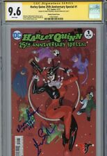 ~HARLEY QUINN 25th ANNIVERSARY SPECIAL #1 Hand-Signed ARLEEN SORKIN (CGC SS 9.6)