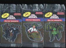 Lot (8) Marvel Die-Cut Magnet (Factory Sealed 1996) Venom Hulk Iron Man etc...