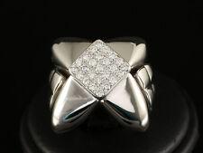Massiver Brillant Ring ca. 0,50ct  37,1g 750/- Weißgold