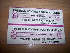 "2 Otis Redding I've Been Loving You Too Jukebox Title Strip  7"" 45RPM Records"