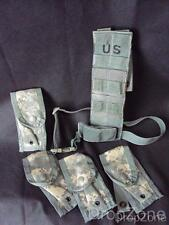 US Army Molle Pistolman Pocket Set, ACU Camo 4 x 9mm Pouches & Leg Holster Ext