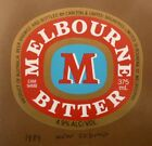 OLD AUSTRALIAN BEER LABEL, 1980s MELBOURNE BITTER CUB, 375 ML TYPE 11