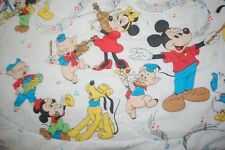 Band Lovers! Vintage Mickey Mouse Bedspread Twin/Double Size Disney Bedding