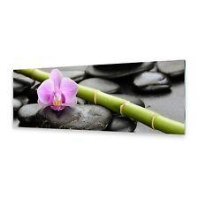 Acrylglasbilder Wandbild aus Plexiglas® Bild Orchidee Steine