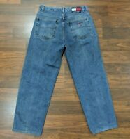 VTG Tommy Hilfiger Big Logo Mens Jeans Straight Leg Medium Wash Denim 34 x 30
