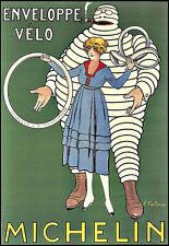 Art ad Michelin sobre velo Neumáticos Neumático Hombre Deco cartel impresión