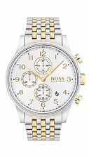 Hugo Boss 1513499 Silver/Gold 44mm Stainless Steel Navigator Men's Watch