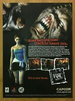 Resident Evil 3: Nemesis PS1 1999 Vintage Print Ad/Poster Official Art RE3 PS4!
