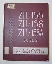 Rare old Bus Catalogue parts ZIL- 155, ZIL- 158, ZIL- 158A, Buses soviet Ussr