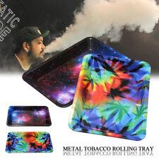 Metal Cigarette Tobacco Rolling Tray Prime Smoking Holder 18*12.5cm / 7*4.9inch