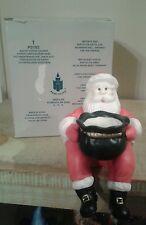 Retired Partylite Ceramic Sitting Santa Votive Candle Holder P0183 - NIB
