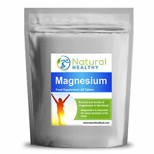120 Magnesium Tablets Oxide mineral supplement vital for healthy muscle and bone