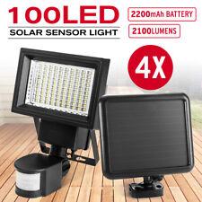 2x 100 LED Solar Sensor Lights Outdoor Security Motion Detection Garden Flood