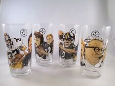 Pittsburgh Steelers in the Hall of Fame Glass ~ Complete Set of 4 ~ Rooney
