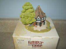 """Lilliput Lane """"Flower Sellers""""  00000Fb0 1991 Handmade In Uk Signed W/Box Rare Signed"""