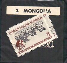 """FRANCOBOLLO DELLA MONGOLIA GADGET REGALO VINTAGE """" CAMMEO """""""